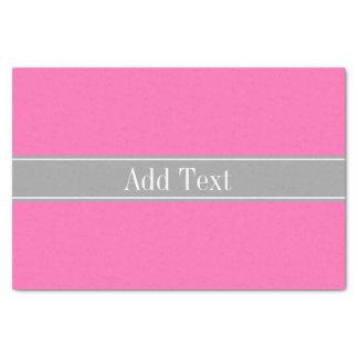 Pink #2, dunkelgraues Band-Namen-Monogramm Seidenpapier