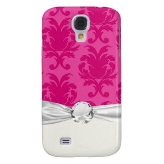 Pink auf dem rosa schicken Damast pern Galaxy S4 Hülle