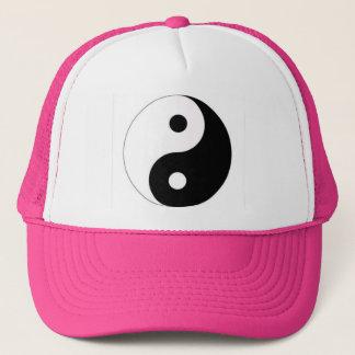 Pink bedeckt mit Yin Yang mit einer Kappe