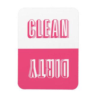 Pink blockiert moderne Typografie-Spülmaschine Magnet