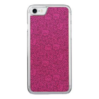 Pink-Blumenrenaissance-Damast Carved iPhone 8/7 Hülle
