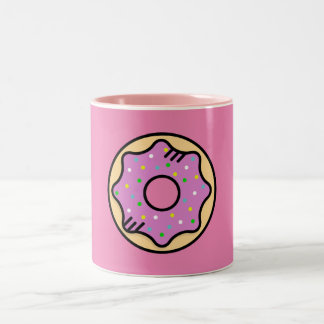 Pink Donut Mug Zweifarbige Tasse