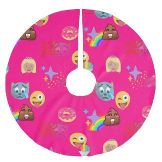 Pink emoji Weihnachtsweihnachtsbaumrock Polyester Weihnachtsbaumdecke