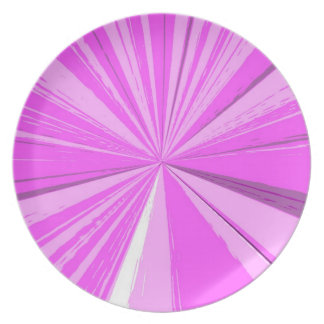 Pink-Fluchtpunkt-großer Teller