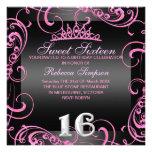 Pink-Geburtstag Prinzessin-Sweet 16 laden ein Individuelle Ankündigungen
