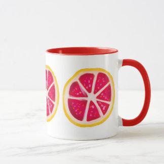 Pink-gelbe Zitrusfrucht-Pampelmusen-Scheibe Tasse