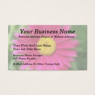 Pink gemaltes Gänseblümchen Visitenkarte