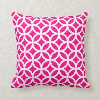 Pink geometrisch kissen