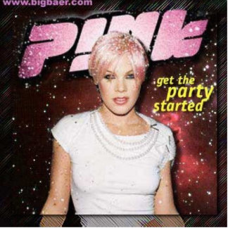 Pink-get-the-party-started_1215262704 Photo Statuen