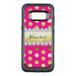 Pink-Goldfolien-Tupfen-Diamanten OtterBox Commuter Samsung Galaxy S8 Hülle