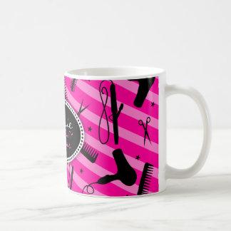 Pink-Haar u. Schönheit Kaffeetassen