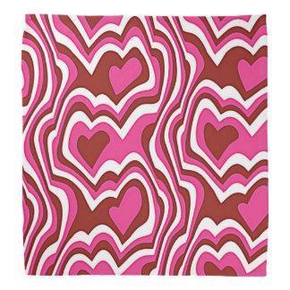 Pink Hearts pattern Kopftücher