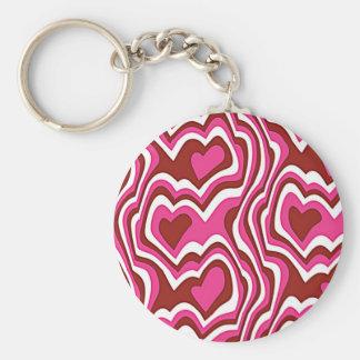Pink Hearts Schlüsselbänder