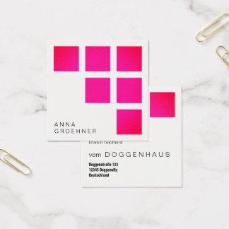 Pink klärt moderne grafische Steigung Quadratische Visitenkarte