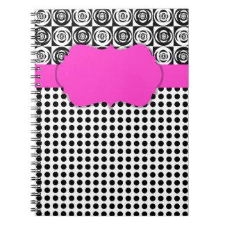 Pink-kundenspezifischer Zauber Spiral Notizblock