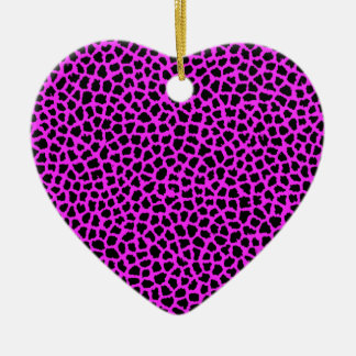Pink-Leopard-Druck Keramik Ornament