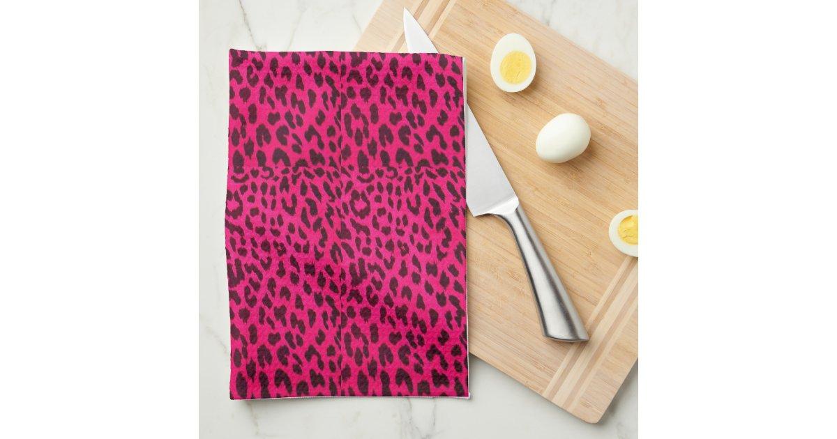 pink leopard druck towel handtuch zazzle. Black Bedroom Furniture Sets. Home Design Ideas