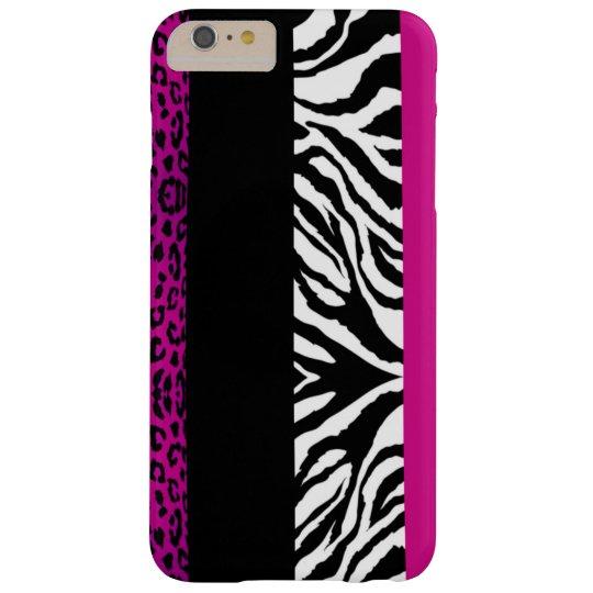Pink-Leopard und Zebra-kundenspezifischer Barely There iPhone 6 Plus Hülle