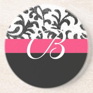 Pink mit Blumen Getränkeuntersetzer