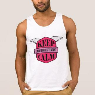Pink modern bald tank top