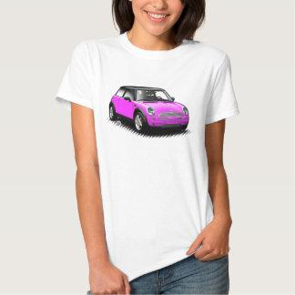 Pink-moderne Miniauto-Damen-Spitze Tshirts