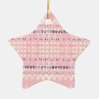 Pink Pattern Triangle Art Rosa Musterdesign Keramik Ornament