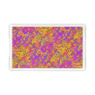Pink-Pfingstrosen Acryl Tablett