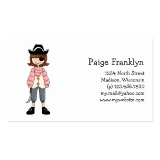 Pink Pirates · Pirate Girl #6 Business Cards