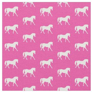 Pink-Pony-Gewebe, helles Pony-Gewebe, Pferd Stoff