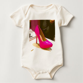 Pink-Pumpe Baby Strampler