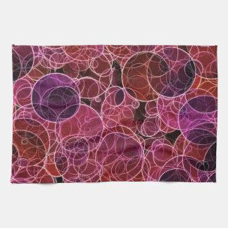 Pink_Purple_Red Muster-Geschirrtuch Küchentuch