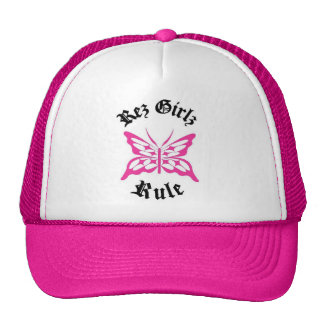 Pink rez girlz Regelhut Kultcaps