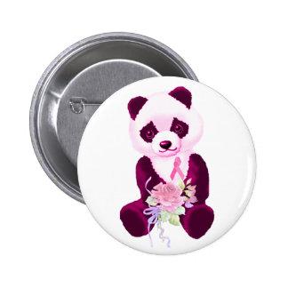 Pink Ribbon Panda Bear Pins