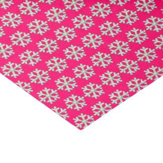 Pink-Schneeflocke-Rosa-Weihnachten Seidenpapier