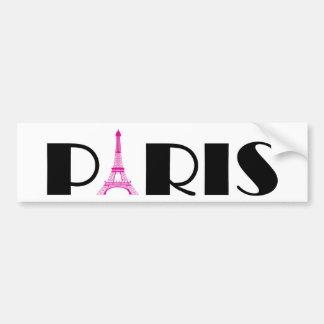 Pink schwarzes Paris Autoaufkleber
