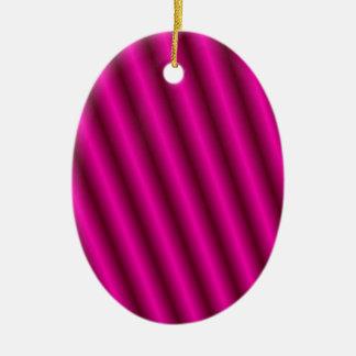 Pink Stripes Design Keramik Ornament