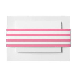Pink-u. weißesgestreiftes Einladungs-Bauch-Band Einladungsbanderole