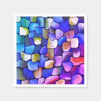 Pink-und Blau-Muster Servietten