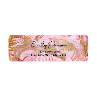 Pink und Goldfolien-eleganter Marmorgeburtstag