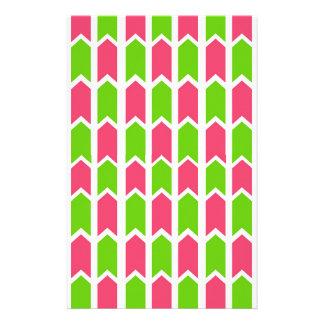 Pink-und Grün-Zaun-Platte Briefpapier