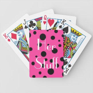 Pink-und Schwarz-Blasen-Tupfen-Spaß Spielkarten