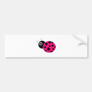 Pink-und Schwarz-Marienkäfer Autoaufkleber