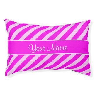 Pink-und weißediagonale Streifen Haustierbett