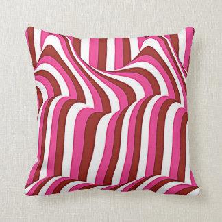 Pink white zigzag zierkissen