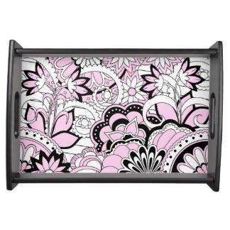 pink Zen pattern Tablett