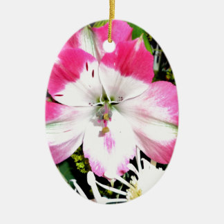Pinke Blumen Keramik Ornament