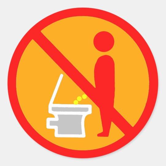 Pinkeln Nicht Toiletten Verkehrsschild Runder Aufkleber