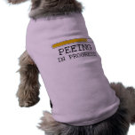 Pinkelnder laufender Baby-T - Shirt Hundetshirts