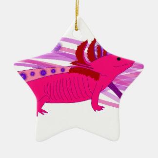 Pinker Axolotl Keramik Ornament
