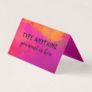 Pinkfarbene Aquarell-Wäsche mit Skript-Typografie Visitenkarten